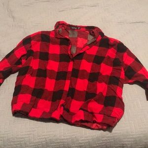 NEW Booboo Cropped Flannel